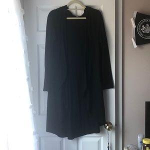 Long sweater with hood